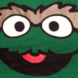 Oscar the Grouch Green Sport T Shirt Cartoon Tee